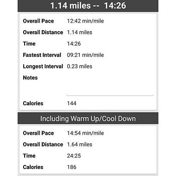 Stats From Today's Run 💪💪 by Natalie Anne
