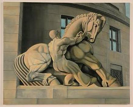 Statue At The Federal Trade Commission by Joseph Greenawalt