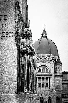 Statue in front of St. Josephs Oratory by Darcy Michaelchuk