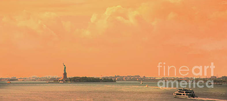 Chuck Kuhn - Statue Liberty Orange