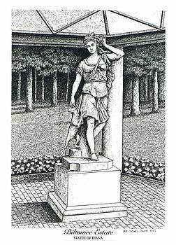Lee Pantas - Statue of Diana on Biltmore Estate