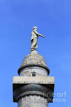 Statue of George Washington on Washington Monument Baltimore by James Brunker