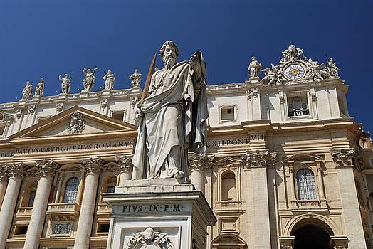 Reimar Gaertner - Statue of St Paul in front of Saint Peters Basilica in Rome