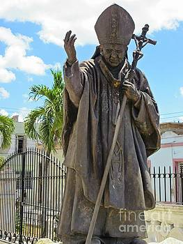 John Malone - Statue of the Pope in Cuba