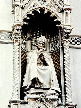 Statue on the Duomo Cathedral in Florence, Italy by Merton Allen