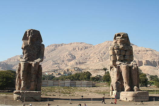 Statues of Pharaoh Amenhotep lll by Sheryl Chapman Photography