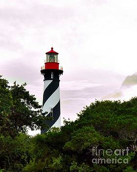 Saint Augustine Lighthouse Behind the Trees by Jennifer Capo