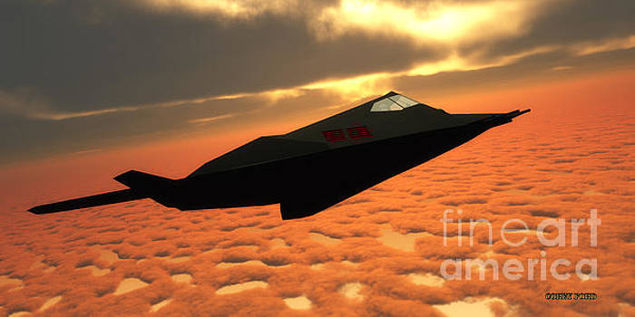 Corey Ford - Stealth Fighter Jet Side View