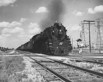 Chicago and North Western Historical Society - Steam Engine 3013 in Illinois - 1947