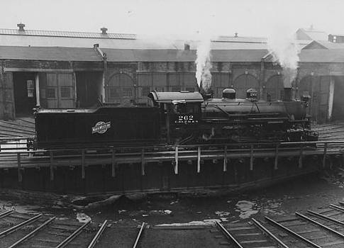 Chicago and North Western Historical Society - Steam Engine on Turntable