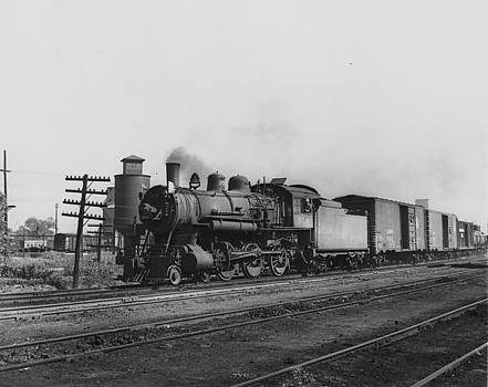 Chicago and North Western Historical Society - Steam Engine Pulling Freight in Sioux City - 1948