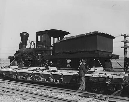 Chicago and North Western Historical Society - Steam Engine on Centennial Ride - 1948