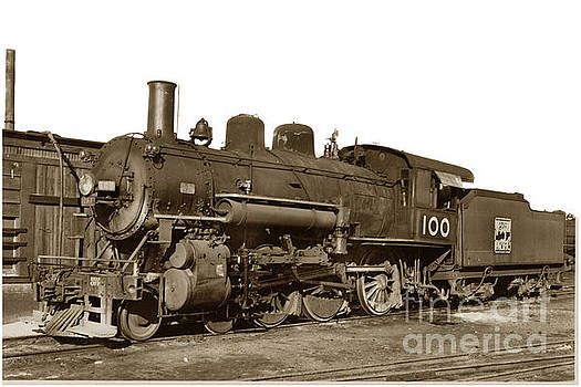 California Views Mr Pat Hathaway Archives - Steam locomotive of the Western Pacific No. 100 Circa 1937