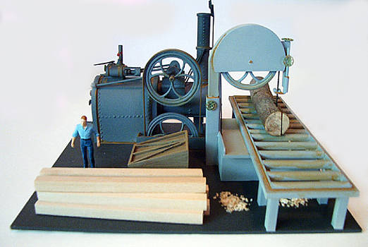 Steam Powered Bandsaw by Gary Giacomelli