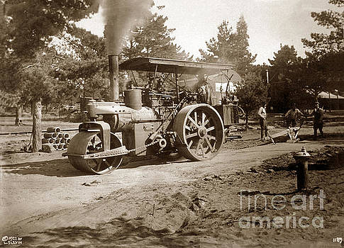 California Views Mr Pat Hathaway Archives - Steam Roller, horizontal boiler type, Carmel 1922