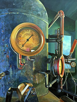 Steam Train Engine by Kathy Armstrong