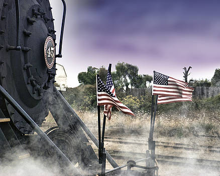 Steam Train Patriotic by William Havle