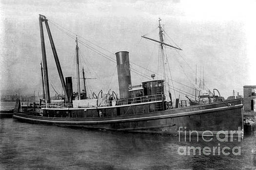 Steam tug  boat S. S. Hercules circa 1915 by California Views Mr Pat Hathaway Archives
