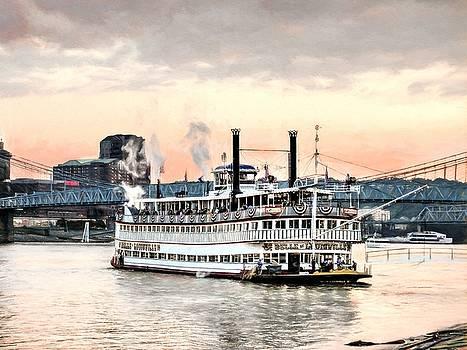 Mel Steinhauer - Steamboats At Cincinnati