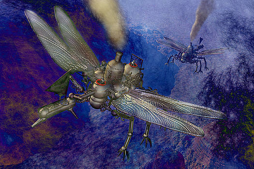 Steampunk flying machines by Carol and Mike Werner