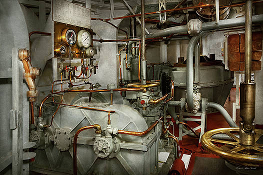 Steampunk - In the engine room by Mike Savad