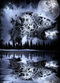 Steampunk Polar Bear Landscape by Artful Oasis