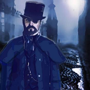 Larry Lamb - Steampunk style self Portrait