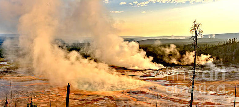 Adam Jewell - Steamy Sunrise At Midway Geyser Basin