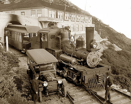 California Views Mr Pat Hathaway Archives - Stean engine No. 8 Mount Tamalpais circa 1920