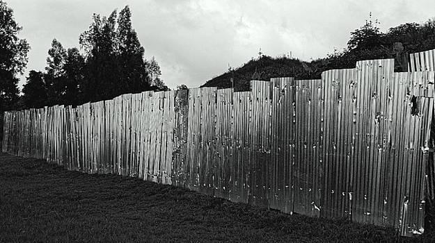 Steel fence, Rwanda 2009 by Chris Honeyman