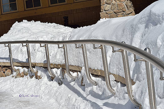 Steel Hand Rail in Snow by Kae Cheatham