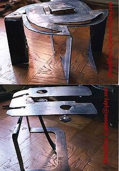 Steel Kirigami Style POP UP TABLES by James Bones Tomaselli