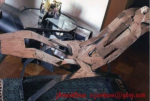 Steel Kirigami Style ROCKER by James Bones Tomaselli
