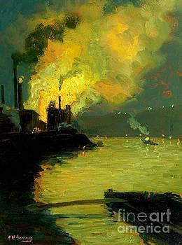 Peter Gumaer Ogden - Steel Mill Jones and Laughlin by Night 1915