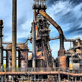 Steel Stacks Bethlehem Pa. by DJ Florek