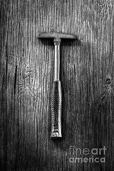 Steel Tack Hammer II on Plywood 74 in BW by YoPedro