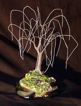 Steel Willow Wire Tree Sculpture by Sal Villano