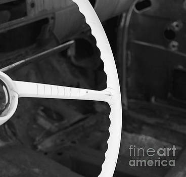 Steering in Black and White by Glennis Siverson