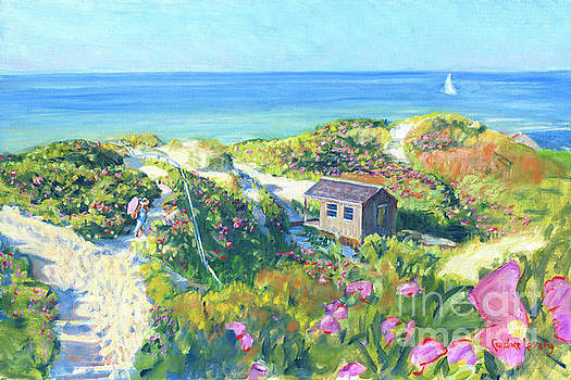 Step Beach in Bloom by Candace Lovely