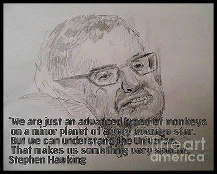 John Malone - Stephen Hawking Portrait and Quote