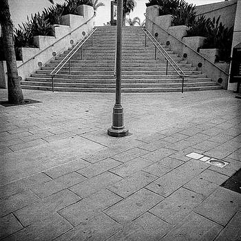 Steps and Light Pole Parking Structure by YoPedro