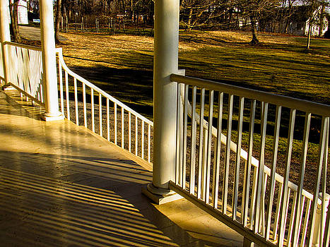 Steps and Shadows at Thomas Cole House in Catskill by Nancy De Flon