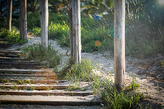 Steps off the Beach by Christopher Francis