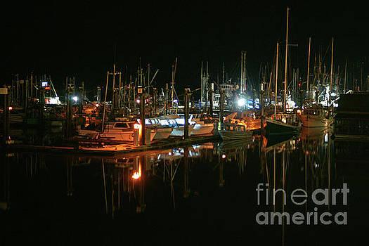 Steveston Docks at Night by Randy Harris
