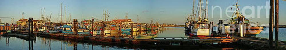 Steveston Docks Panoramic by Randy Harris