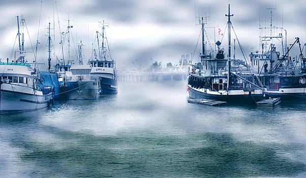 Barbara  White - Steveston in Morning Fog