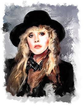 Stevie Nicks Portrait by Brian Tones