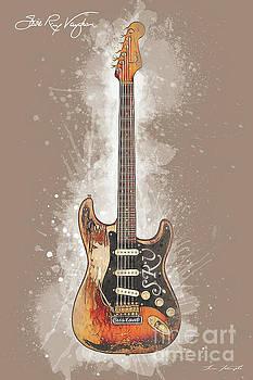 Stevie Ray Vaughan Guitar by Tim Wemple