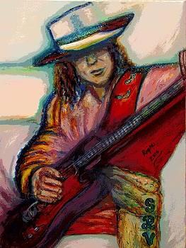 Stevie Ray Vaughan by Regina Brandt