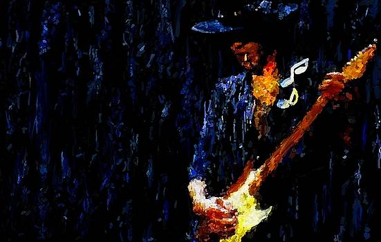 Stevie Ray Vaughan Signed Prints available at laartwork.com Coupon Code KODAK by Leon Jimenez